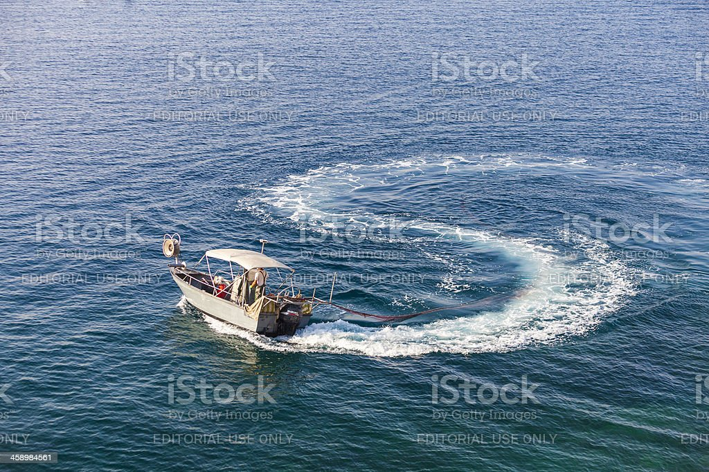 Fishing boat, Nice, France royalty-free stock photo