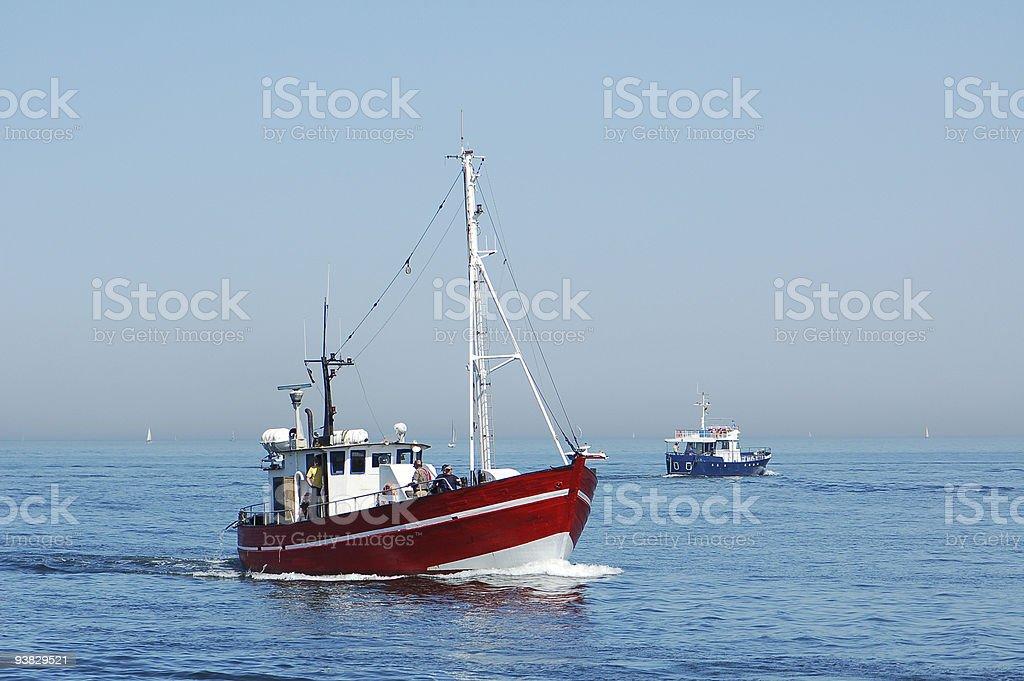 Fishing Boat on baltic sea stock photo