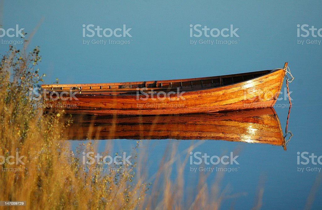 Fishing Boat on Loch Assynt royalty-free stock photo