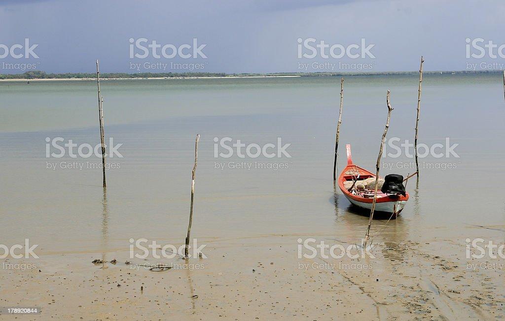 Fishing boat on Neap stock photo