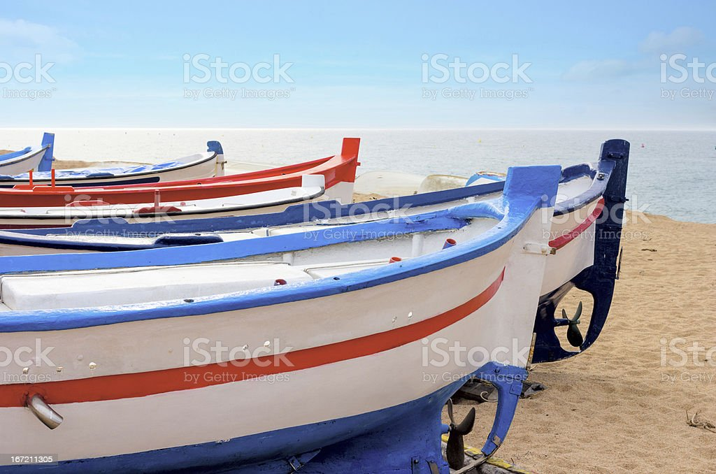 Fishing Boat on the sand royalty-free stock photo
