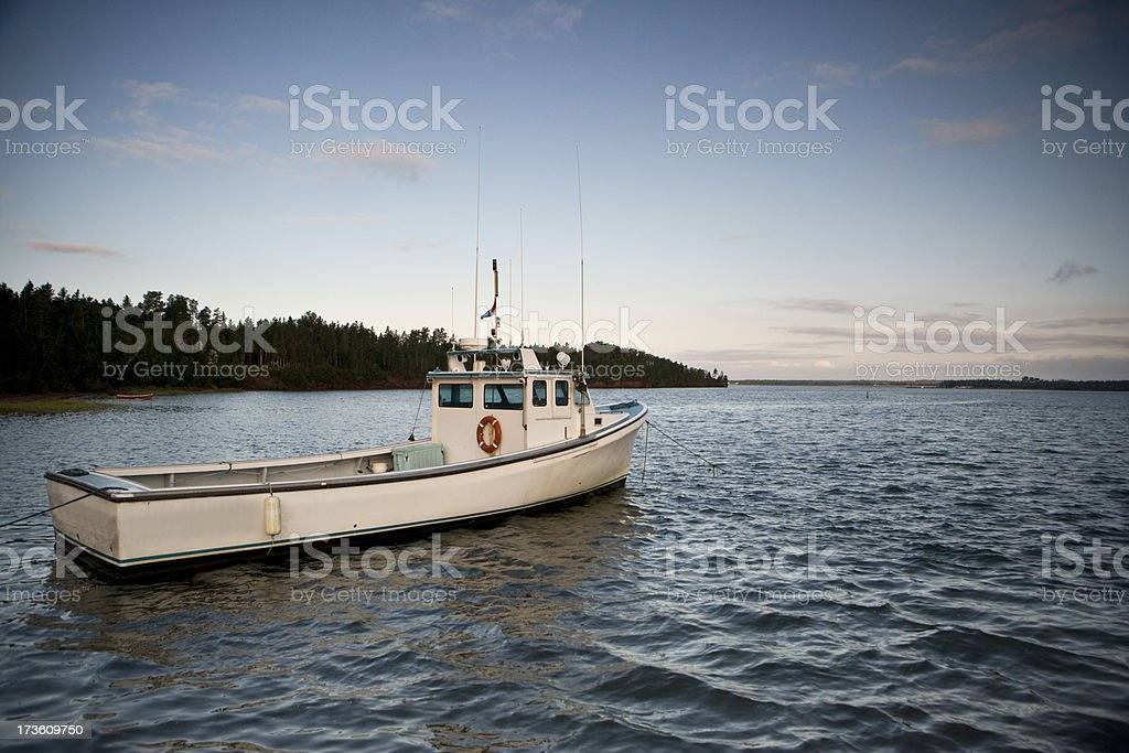 Fishing boat on the water royalty-free stock photo