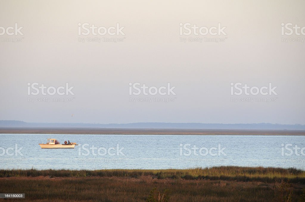 Fishing Boat, Pamlico Sound, Outer Banks, NC stock photo