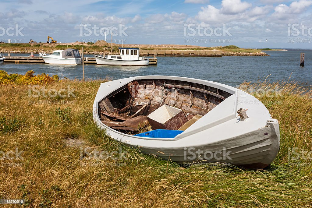 Fishing boat. stock photo