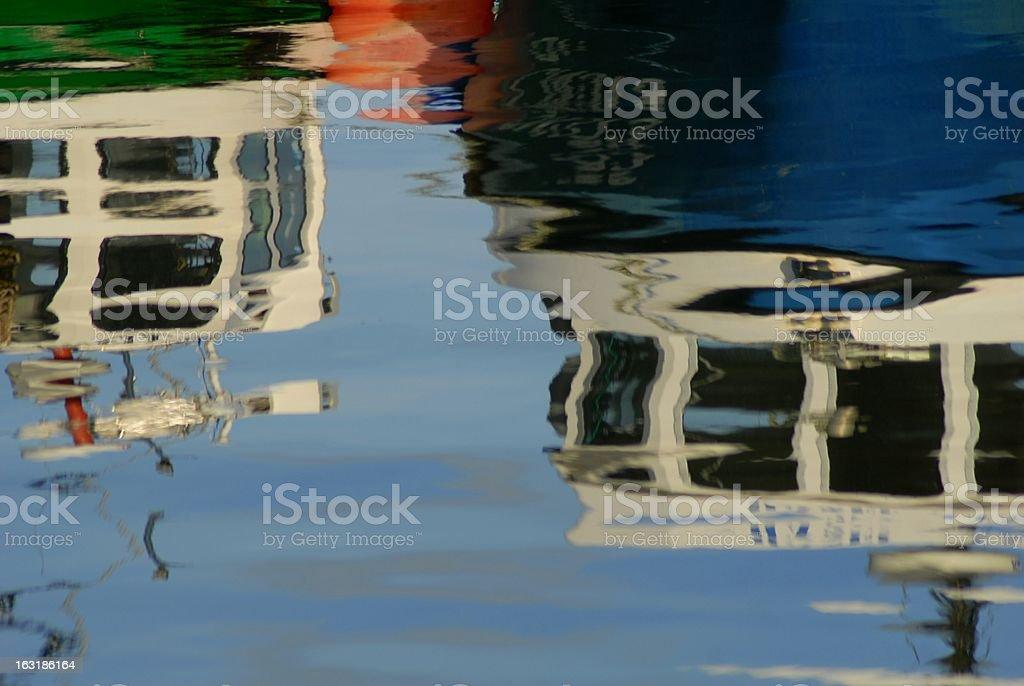 フィッシングボートの反射 ロイヤリティフリーストックフォト