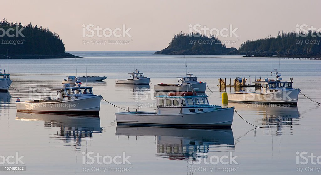 Fishing Boat Trawlers, Maine stock photo