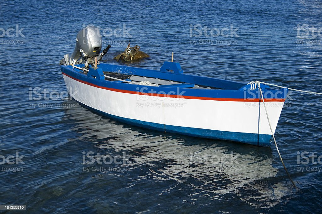 fishing boat  with engine stock photo