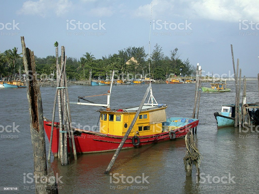 Fishing boats 1 royalty-free stock photo