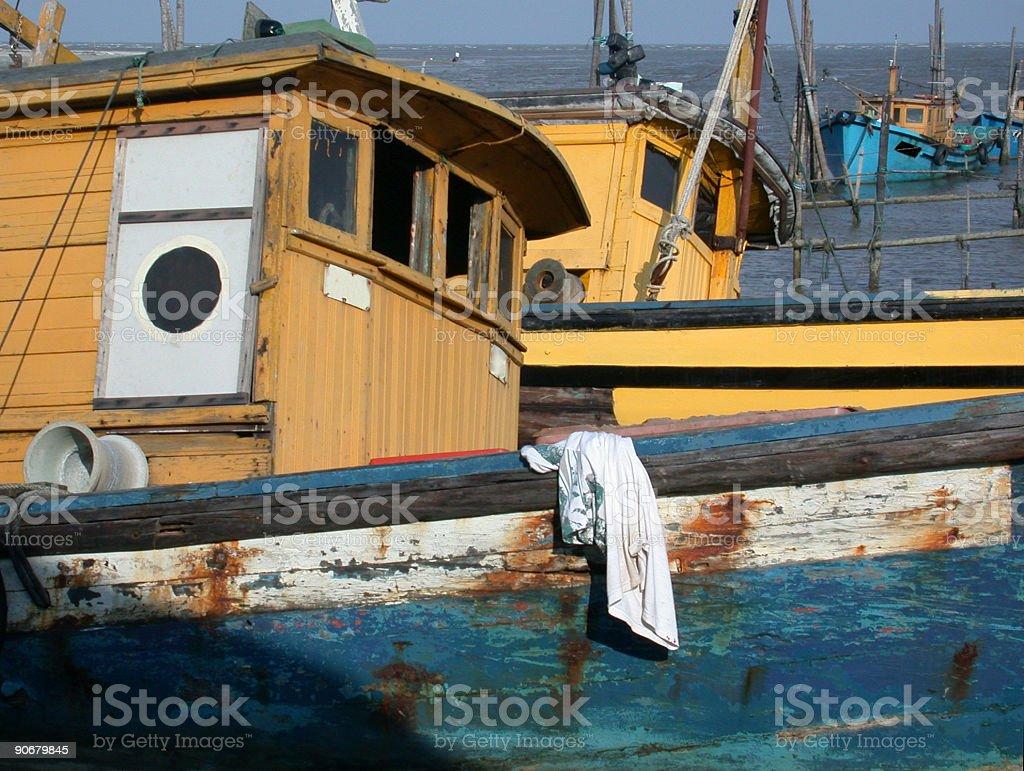 Fishing boats 3 royalty-free stock photo