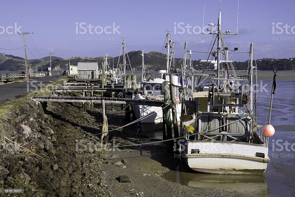 Fishing Boats Along the Dock stock photo
