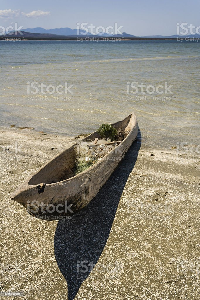 Fishing boats and net royalty-free stock photo