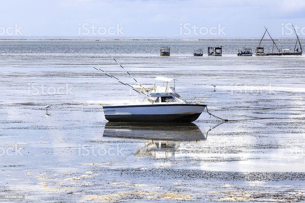 fishing boats at beach royalty-free stock photo