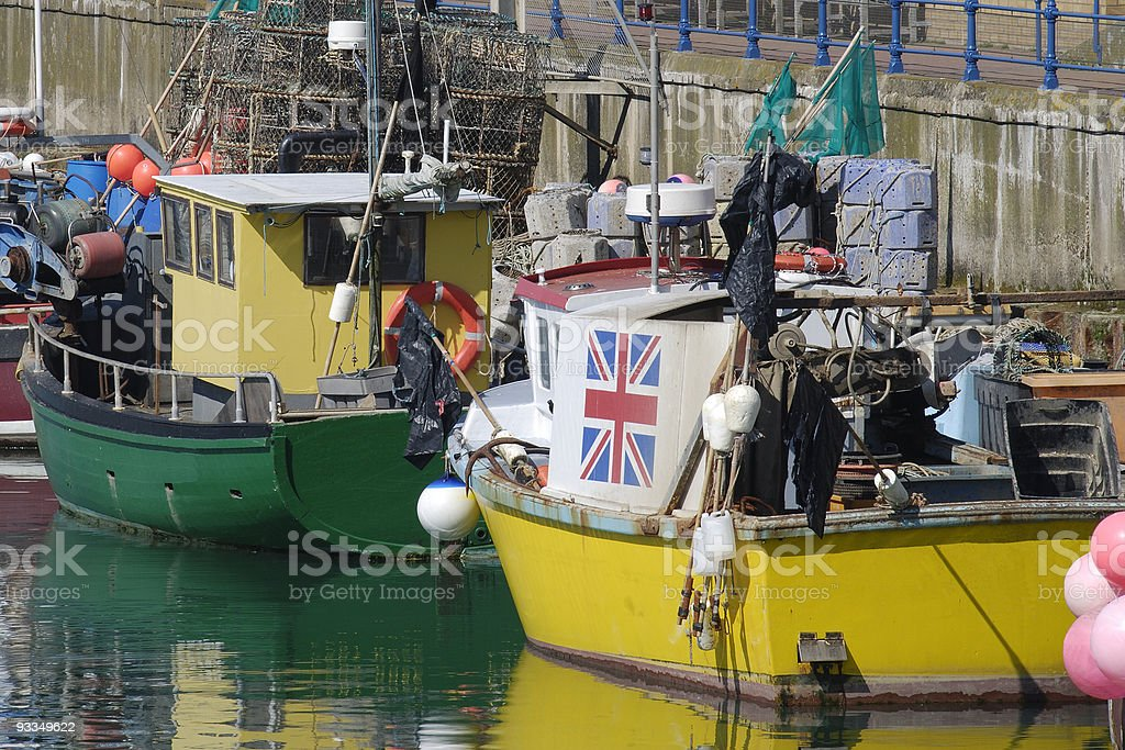 fishing Boats at Brighton Marina. East Sussex. England royalty-free stock photo