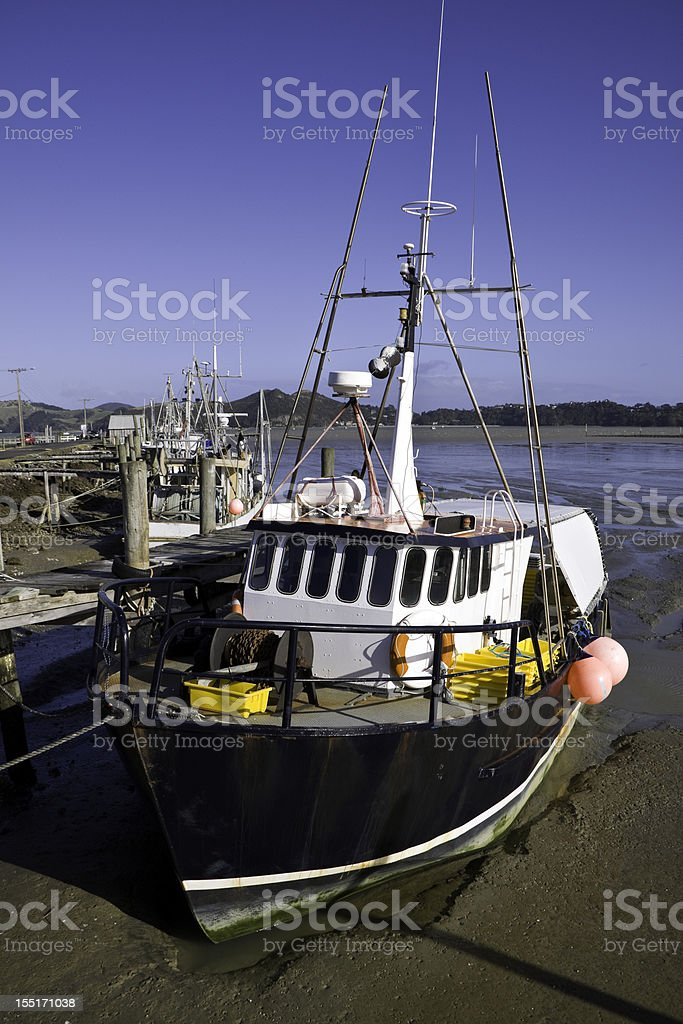 Fishing Boats at Jetty stock photo