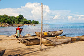 Fishing boats at Lake Malawi.
