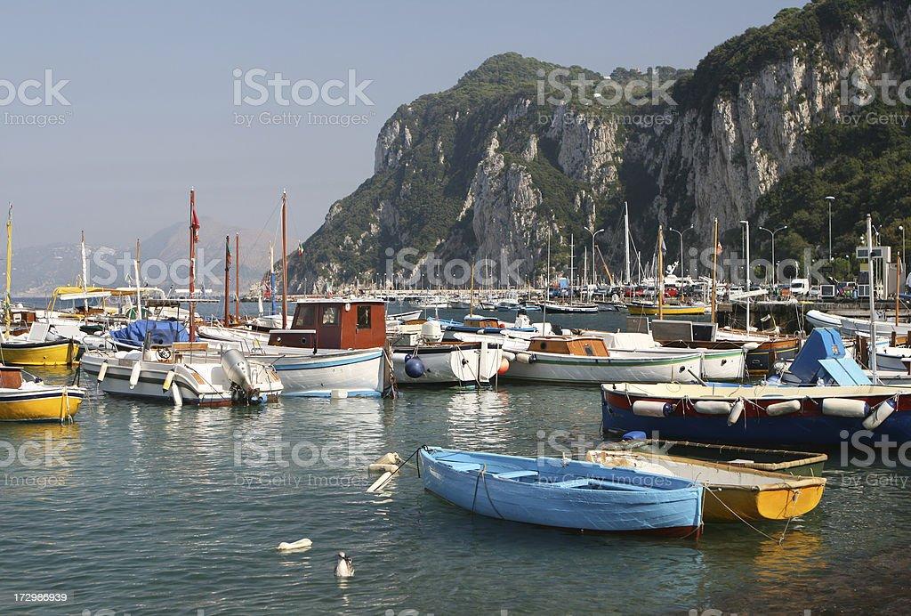 Fishing boats at Marina Grande, Capri stock photo