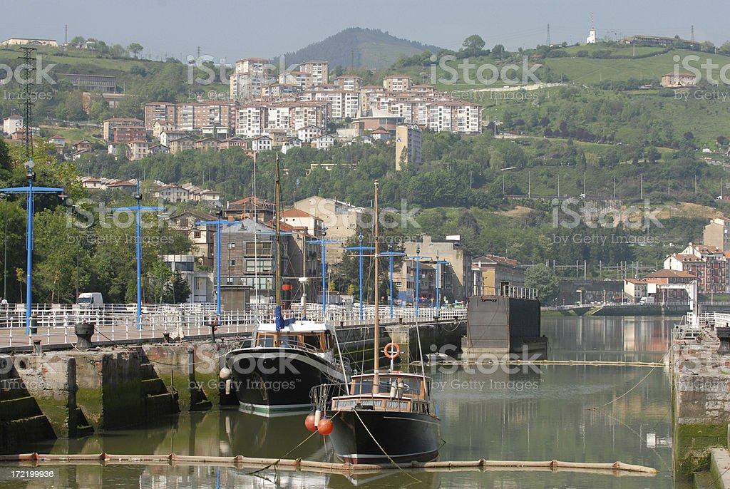 Fishing Boats, Bilbao stock photo