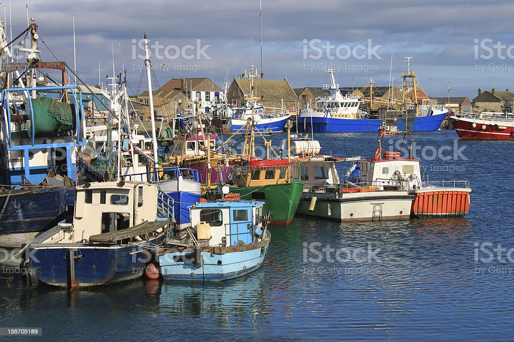 Fishing Boats Howth Harbour royalty-free stock photo