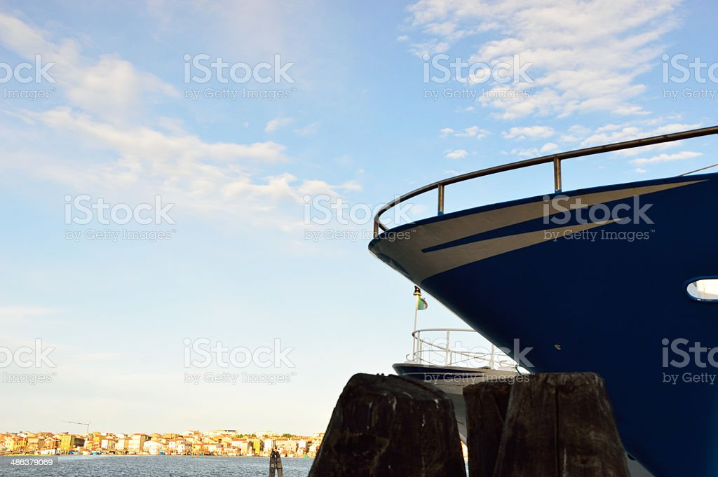 fishing boats in Chioggia, near Venice, Italy stock photo