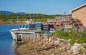 Fishing Boats in Dingwall Cabot Trail Cape Breton