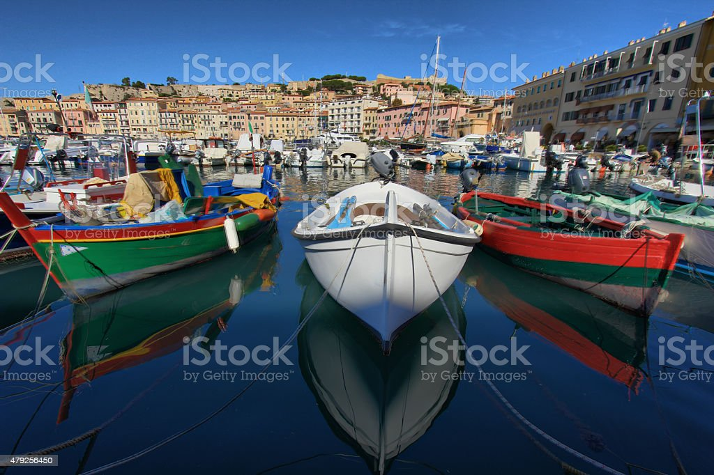 Fishing Boats in Elba Island stock photo