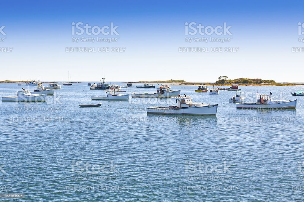 Fishing Boats in Kennebunkport, Maine. stock photo