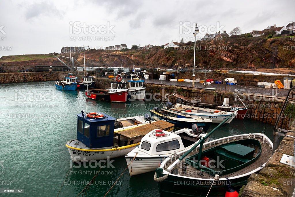 Fishing Boats in Scotland stock photo