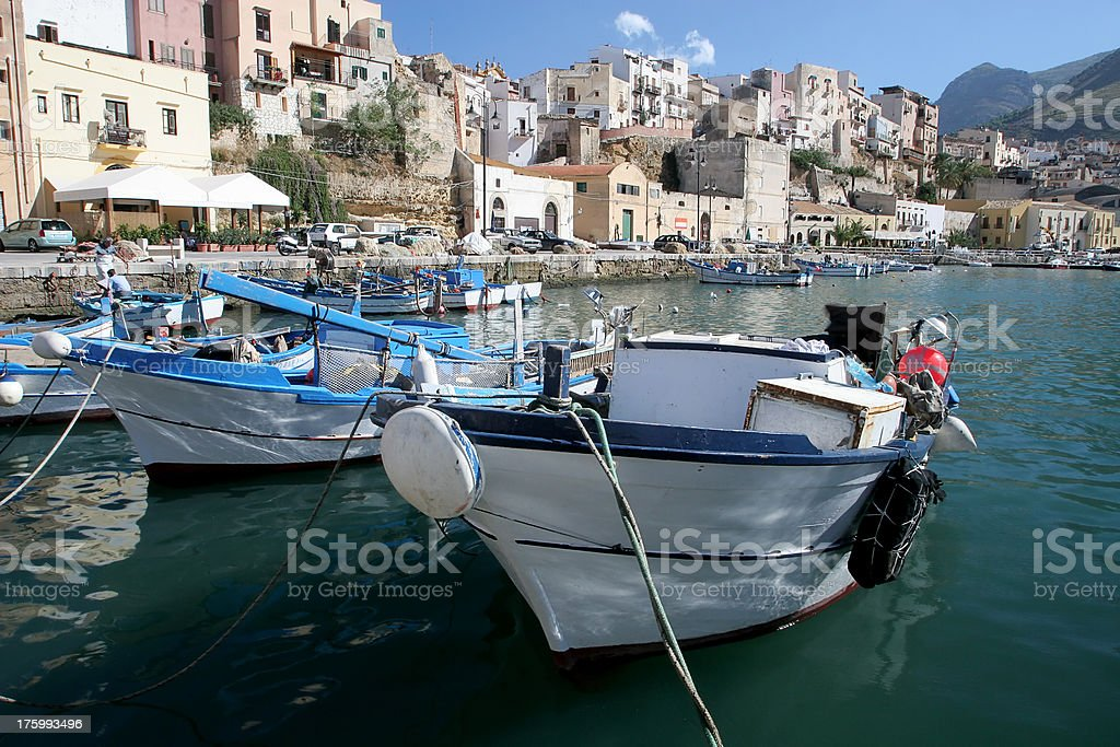 Fishing Boats in Sicily stock photo