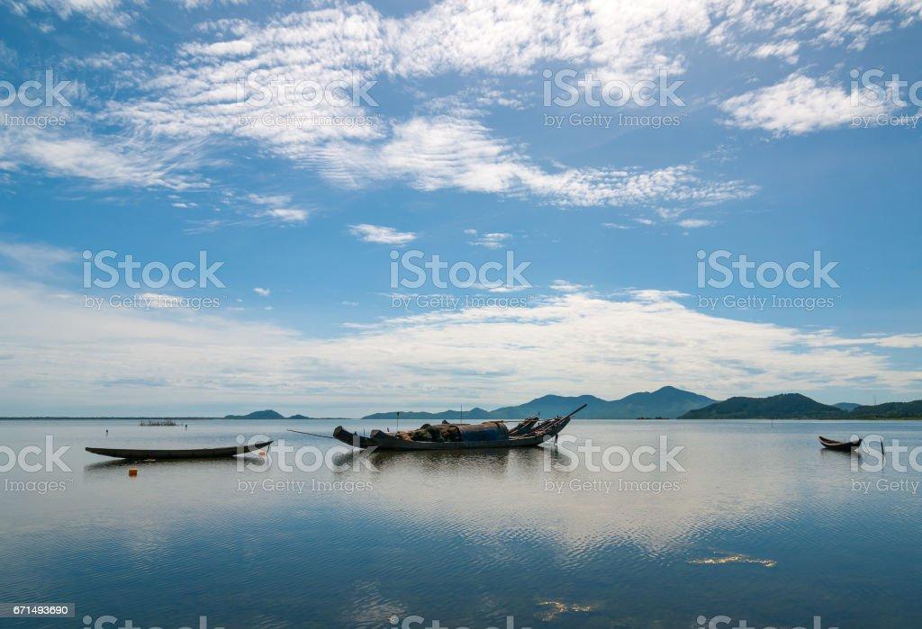 Fishing Boats in Vietnam stock photo