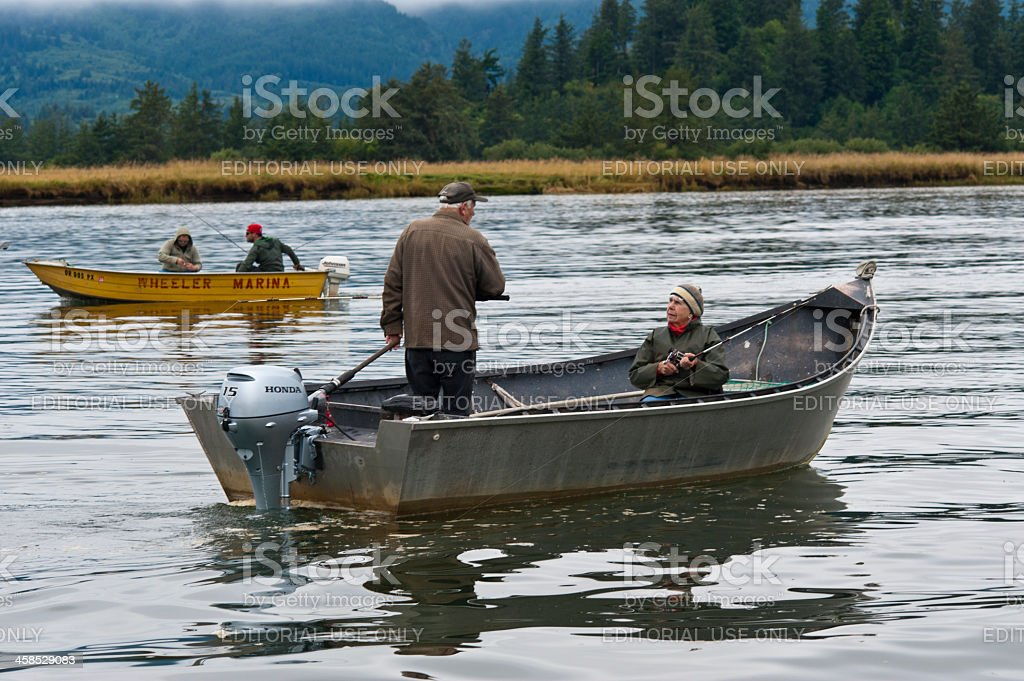 fishing boats in Wheeler, Oregon royalty-free stock photo