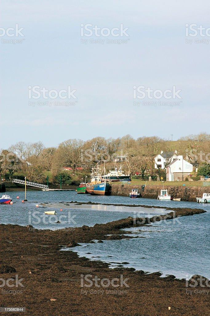 Fishing Boats, Newport, Co Mayo, Republic of Ireland stock photo