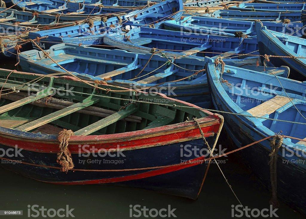 Fishing Boats of Essaouira royalty-free stock photo