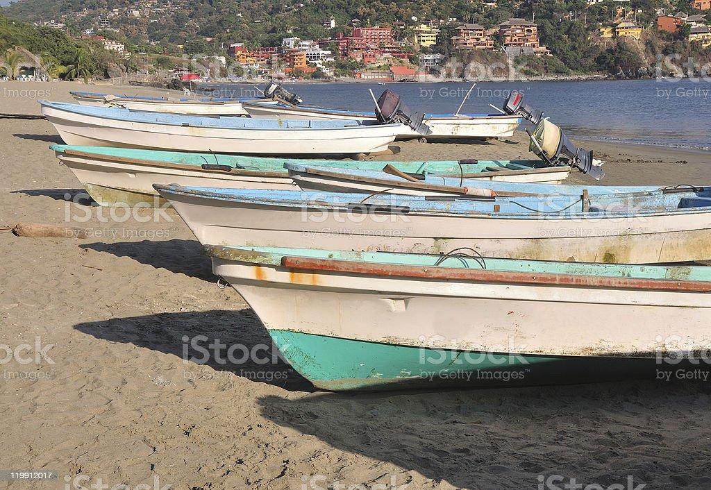 Fishing Boats on Madera Beach stock photo