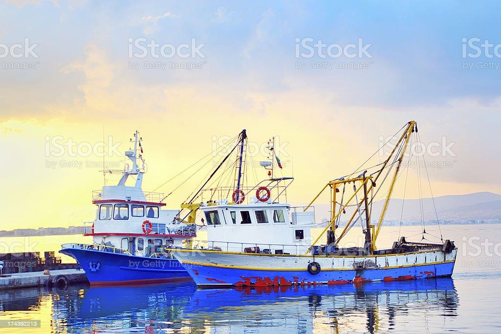 fishing boats royalty-free stock photo