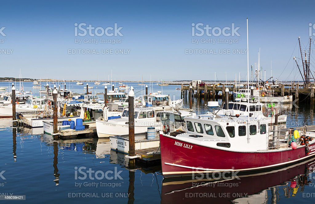 Fishing Boats, Provincetown, Cape Cod, Ma royalty-free stock photo