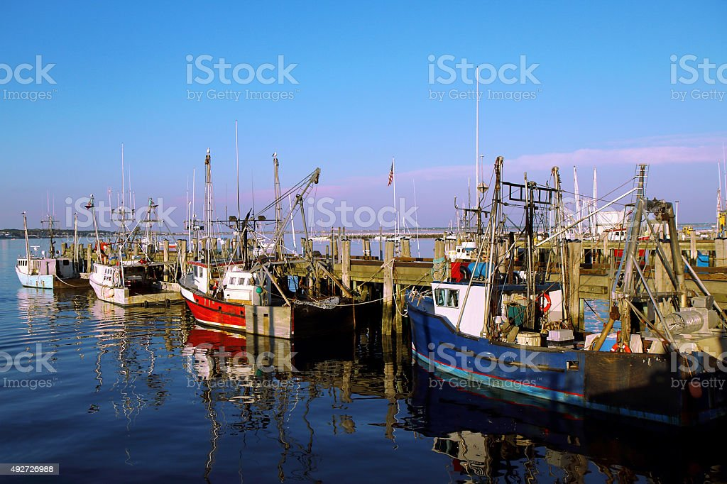 Fishing Boats Ready to Go! stock photo