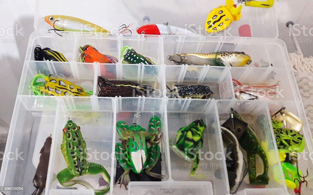 Fishing box stock photo