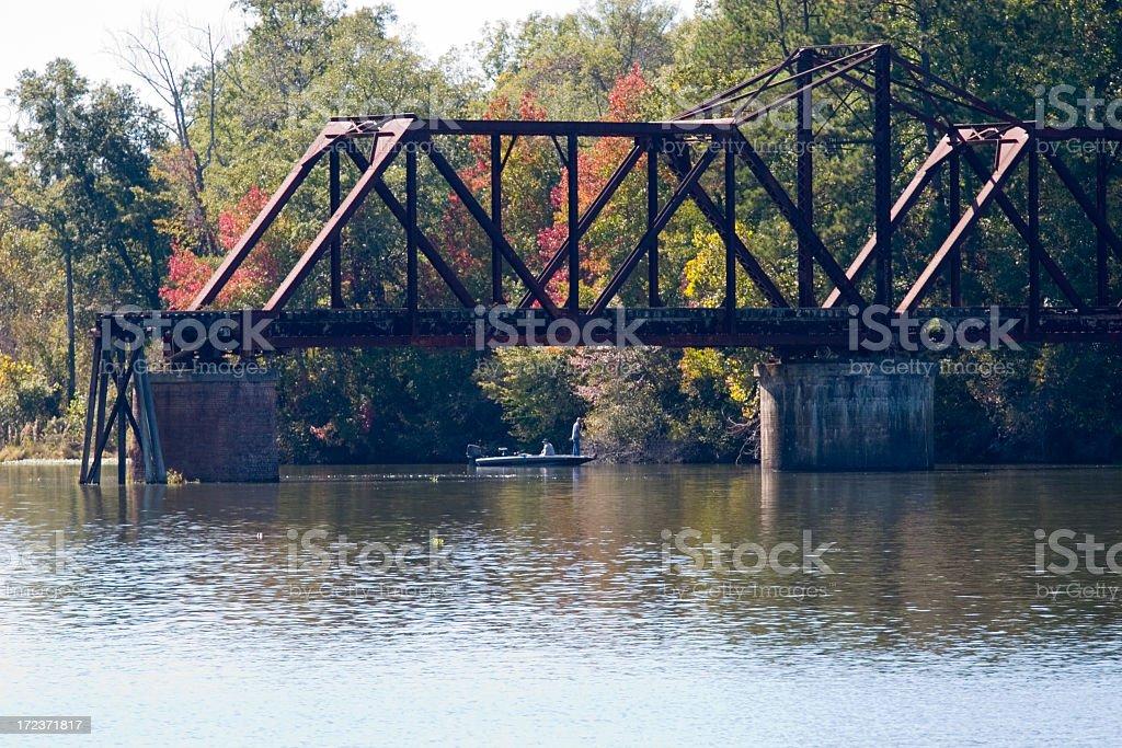 Fishing Bridge royalty-free stock photo
