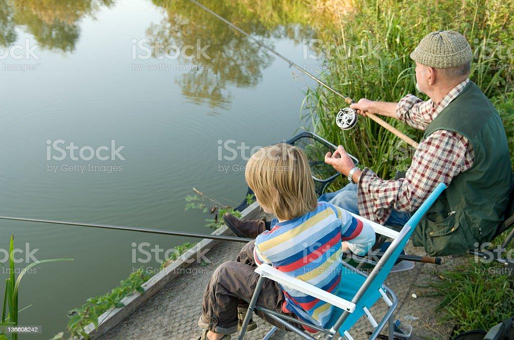 Fishing Buddies 2 royalty-free stock photo