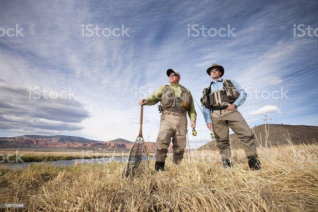 Fishing Buddies stock photo