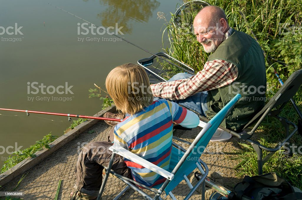 Fishing Buddies royalty-free stock photo