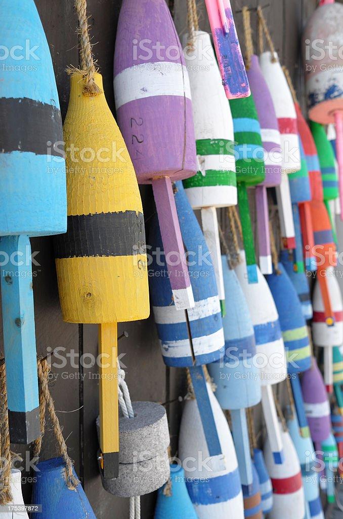 Fishing buoys stock photo