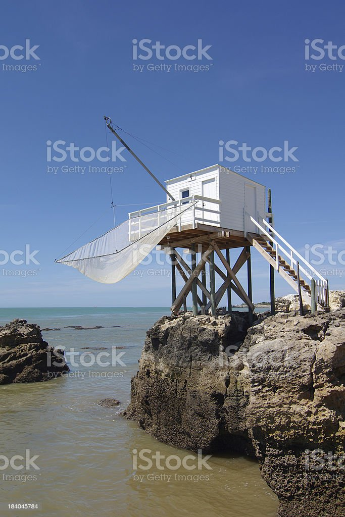 Fishing cabin stock photo