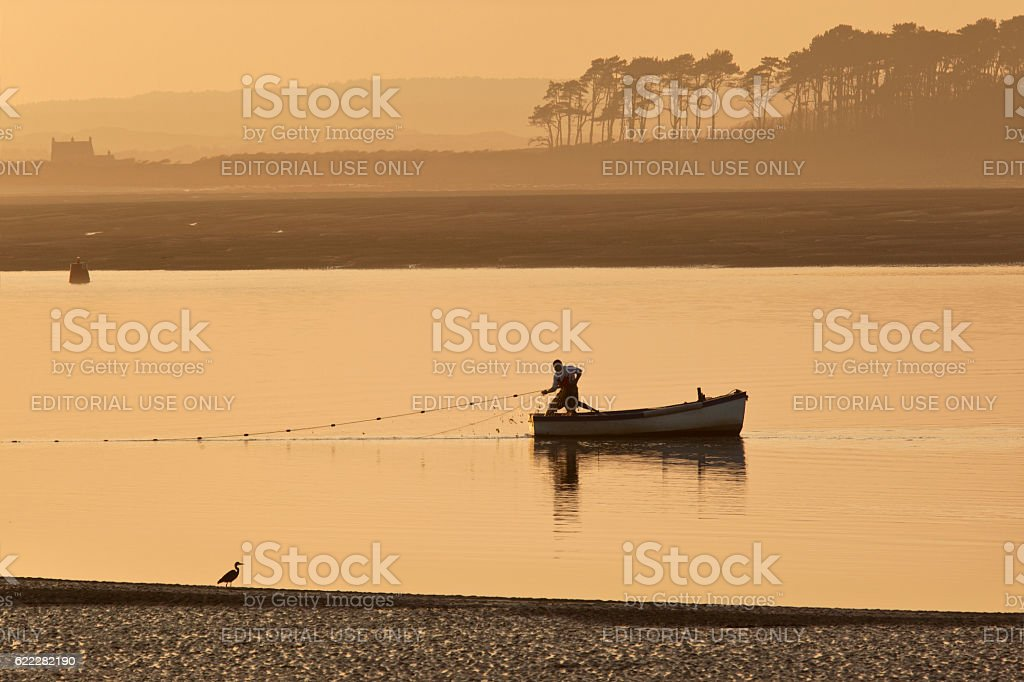 Fishing - Caernarfon - Wales stock photo