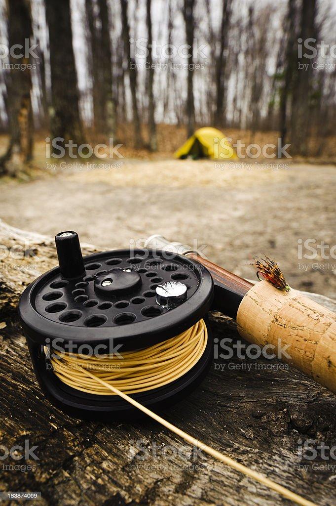 Fishing Camp stock photo