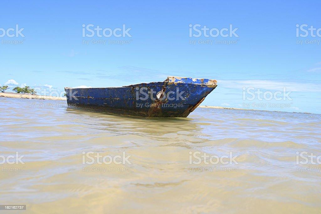 Fishing Canoe (Barzil) royalty-free stock photo