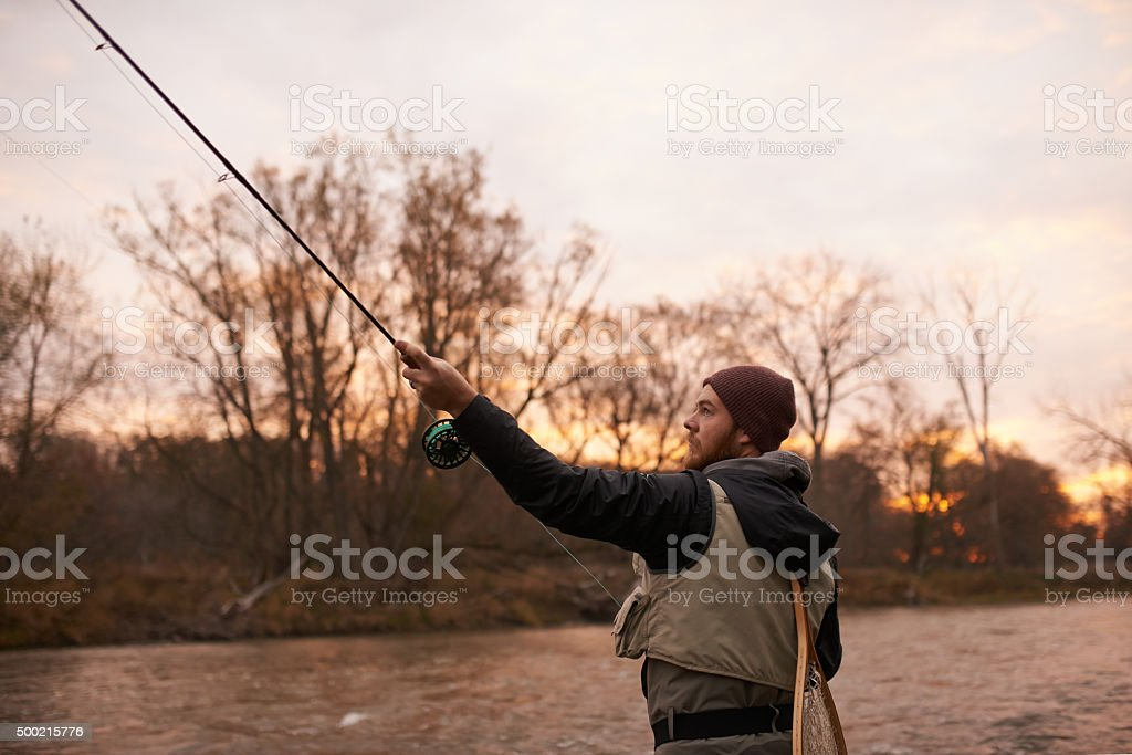 Fishing… cheaper than therapy stock photo