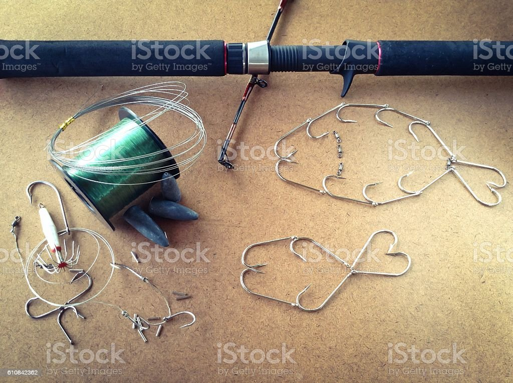 Fishing concept stock photo