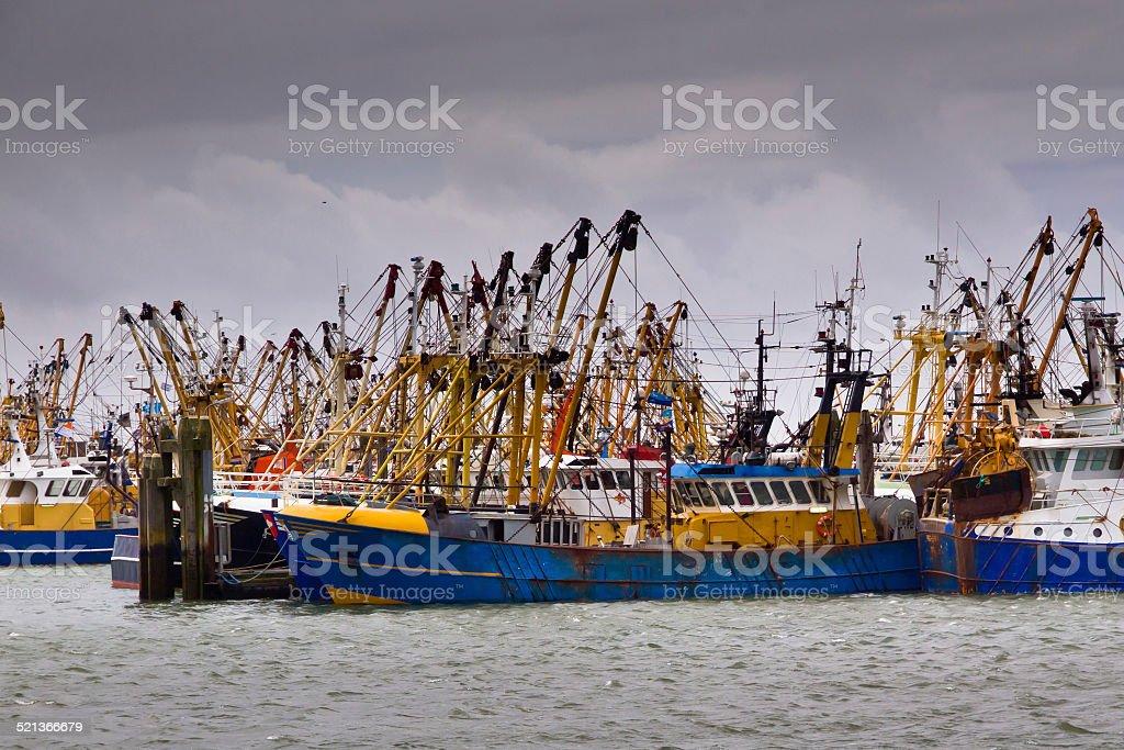 Fishing cutter stock photo