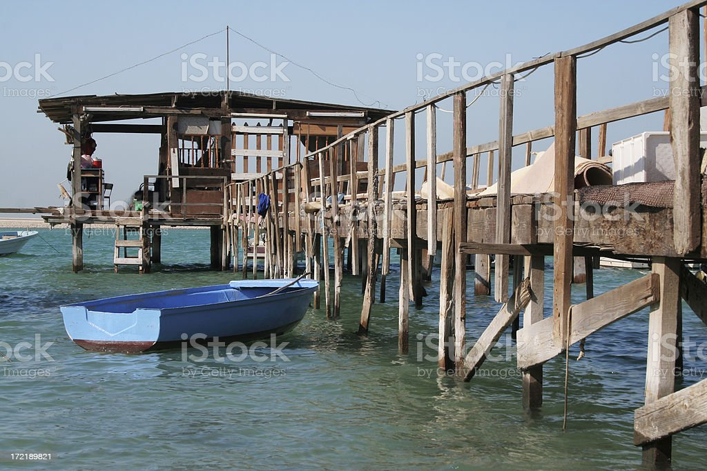 fishing dock royalty-free stock photo